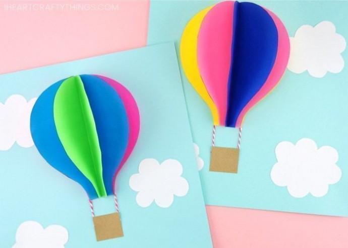 """Объемная аппликация """"Воздушный шар"""""""