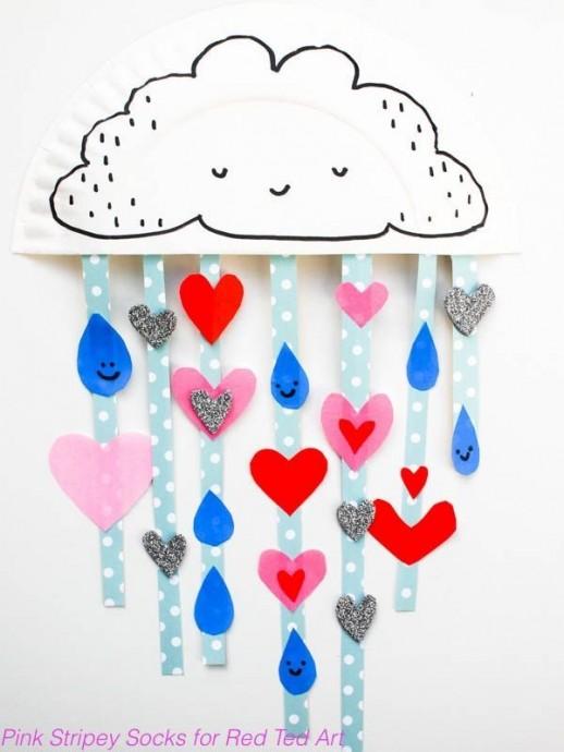Дождик из сердечек