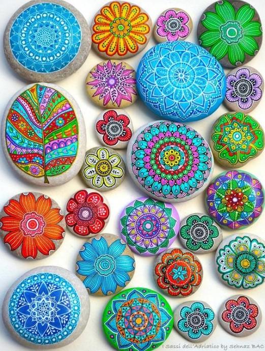 Идеи красочной росписи камней с детьми 3