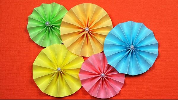 Поделки  из бумаги сложенной гармошкой: забавные идейки
