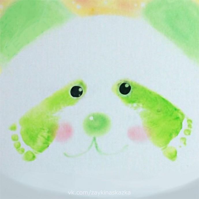 Рисуем панду ножками 6