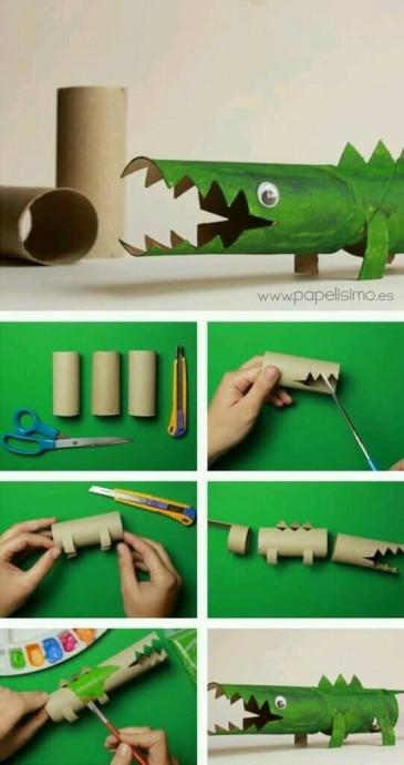 Детские поделки из рулончиков от туалетной бумаги