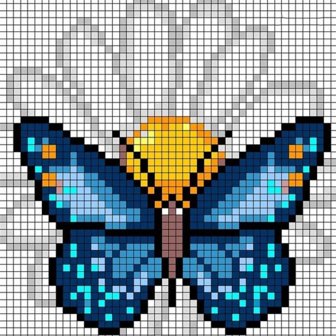 Вышиваем бабочек 4