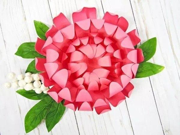 Хризантемы из бумаги 0