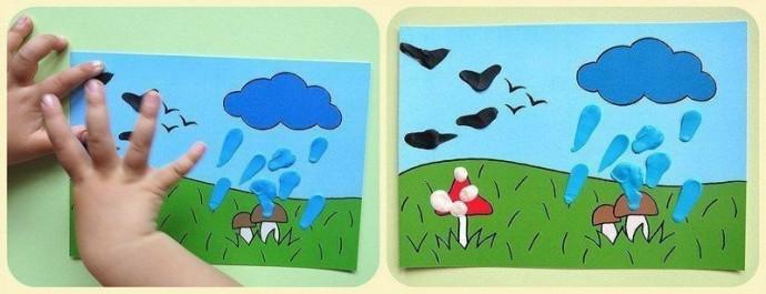 Рисование пластилином