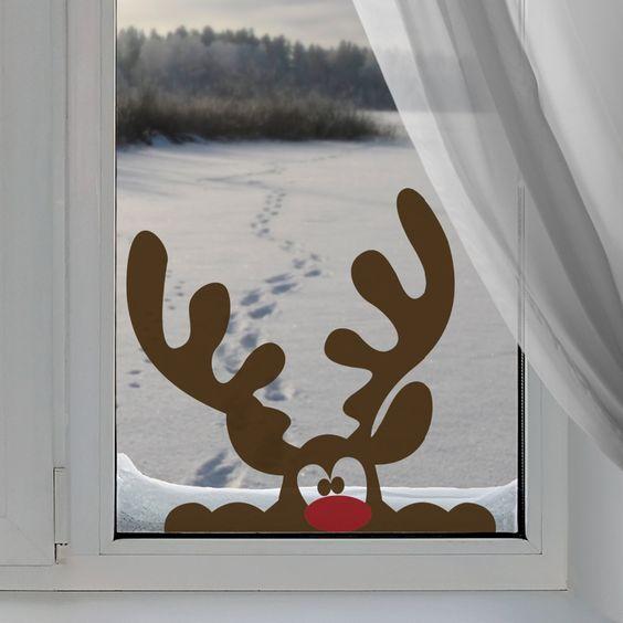 Украшаем с детьми окна к Новому году