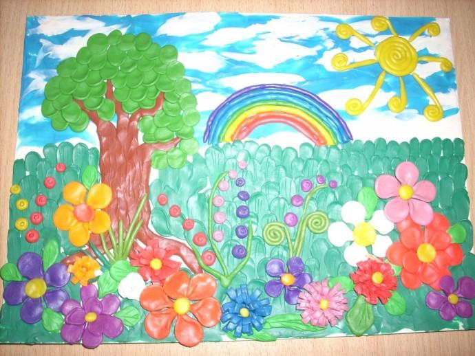Яркие идеи лепки пейзажей из пластилина с детьми