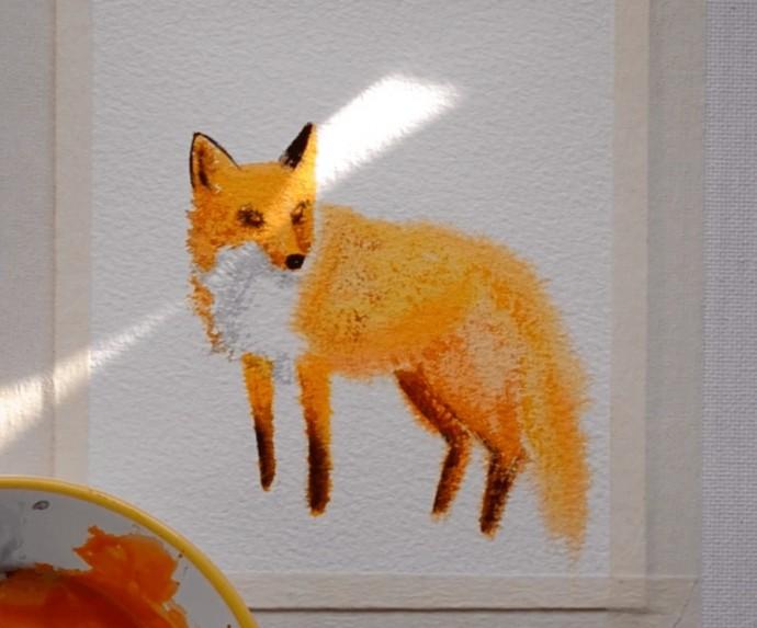 Рисуем с детьми лисичку