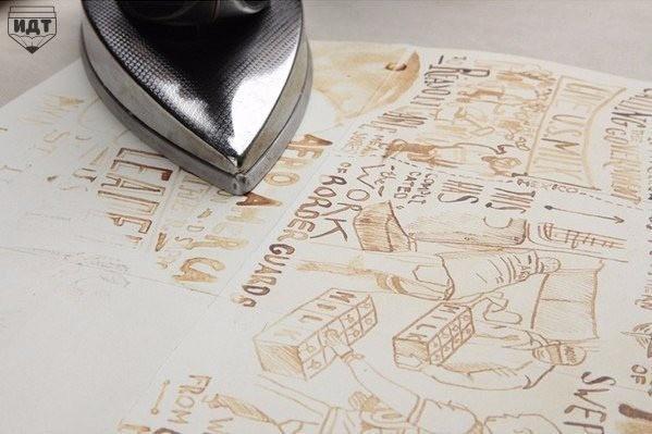 Рисуем с детьми молоком на бумаге