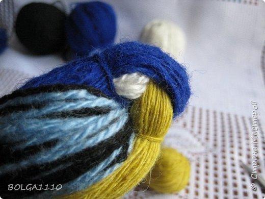 Синичка из пряжи: мастер-класс