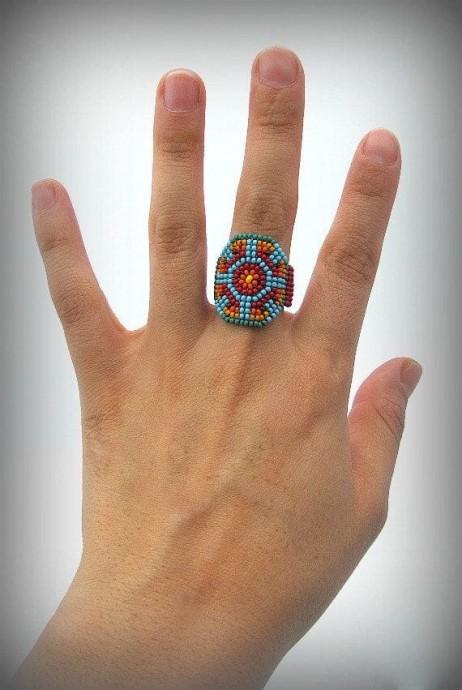 Кольца из бисера