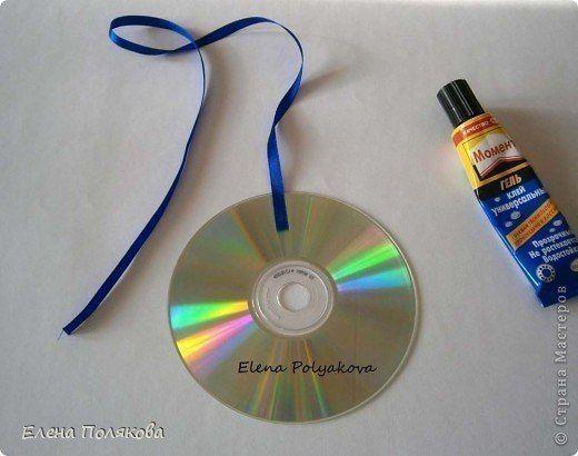 Новогодние поделки из СD-дисков 5