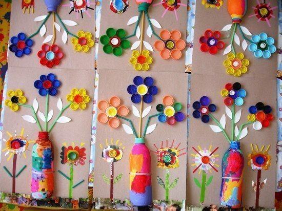 Поделки из крышечек: идеи творчества с детьми