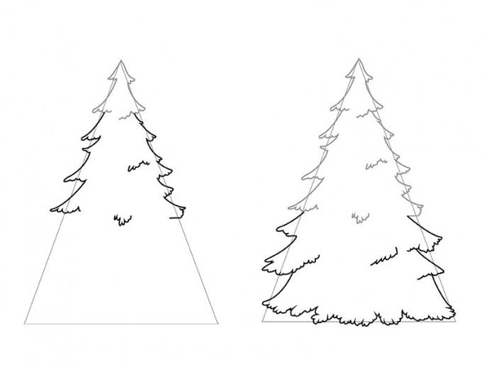 Рисуем новогодние ёлочки
