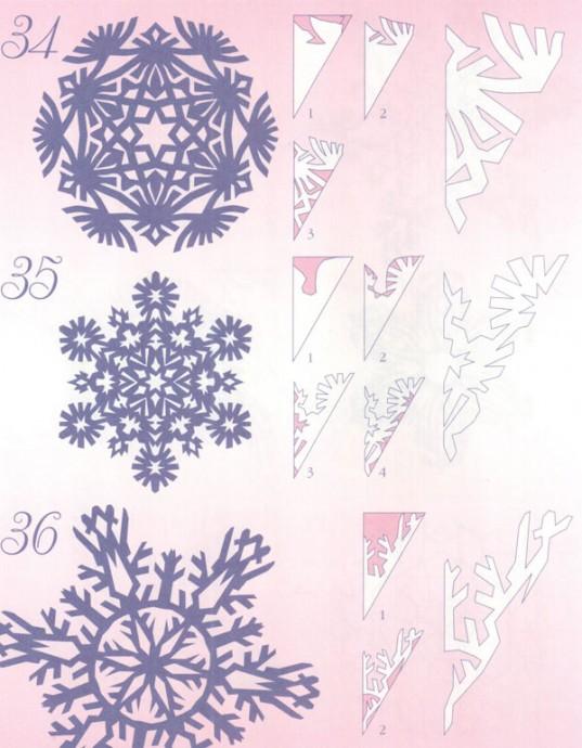 Прocтые схемы красивых снежинок 6