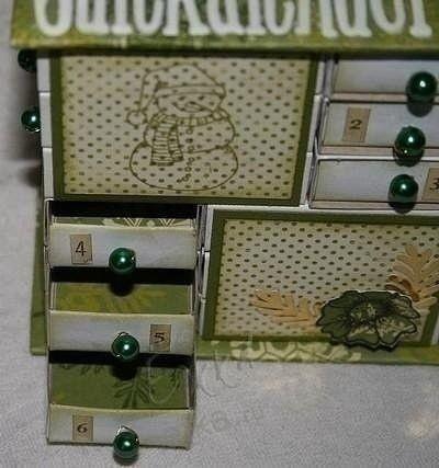Шкатулка из спичечных коробков