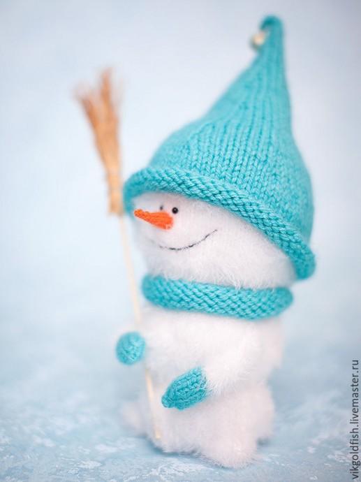 Вяжем снеговичка 3