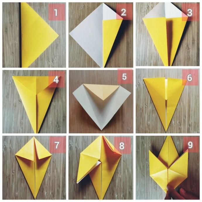 Поделка кленовый лист из цветной бумаги