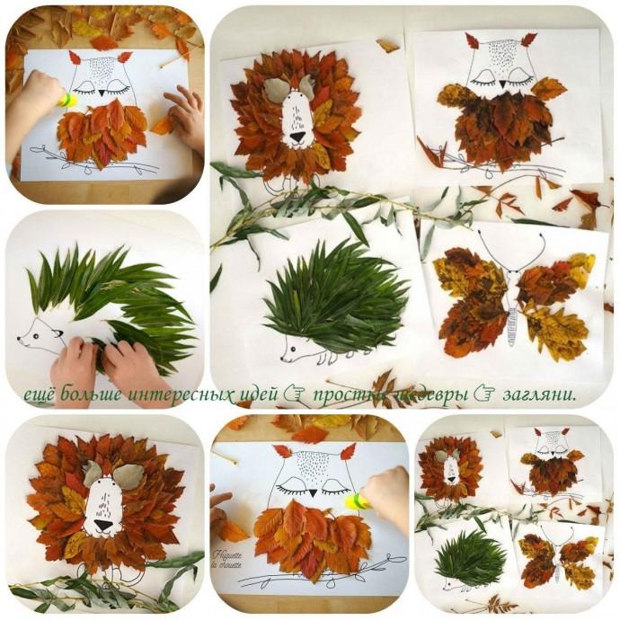 Идеи поделок из листьев с шаблонами