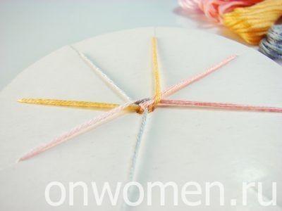 Плетение фенечек с помощью круга