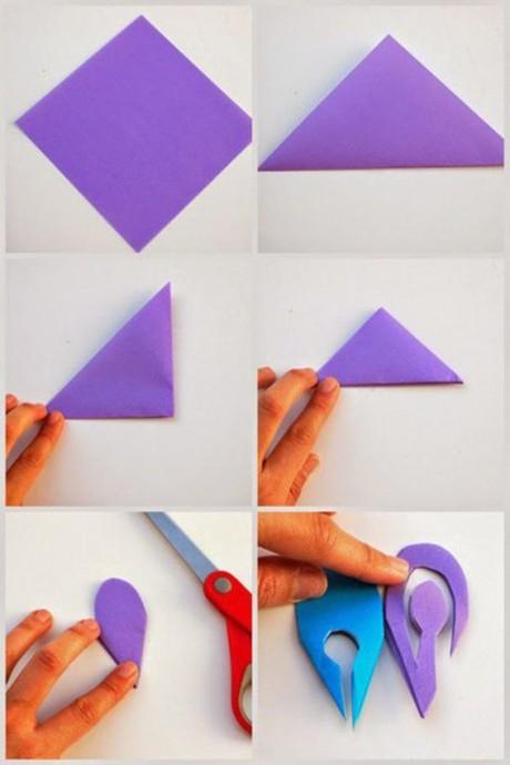 Учимся вырезать цветочки из бумаги