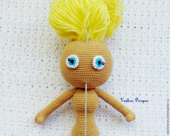 Как оформить лицо куколке 4