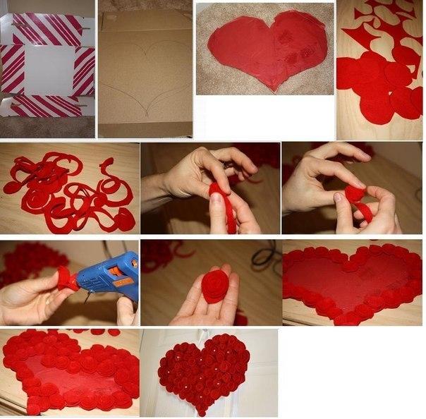 Сердце из фетра 1