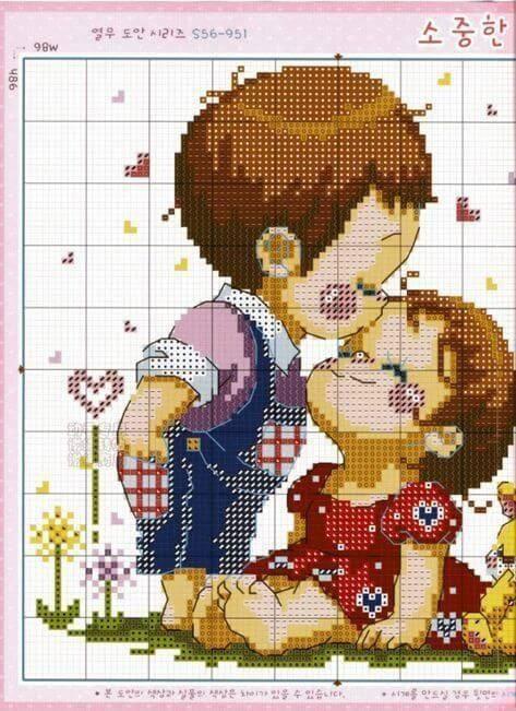 Схемы детской вышивки для малышей среднего и старшего возраста