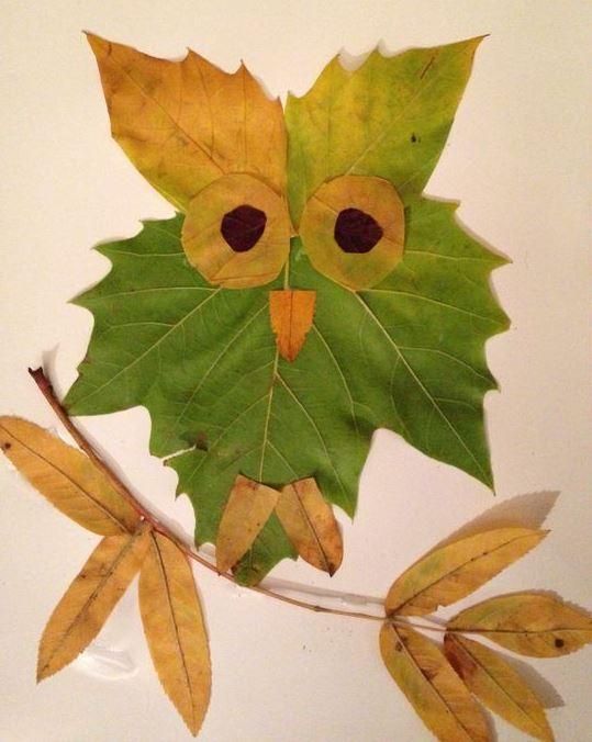 Творчество из листьев: идеи