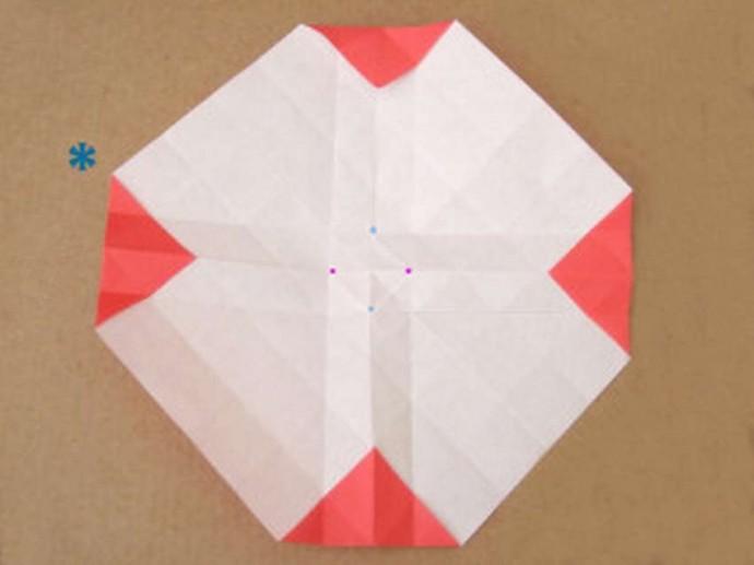 Делаем розу оригами 1
