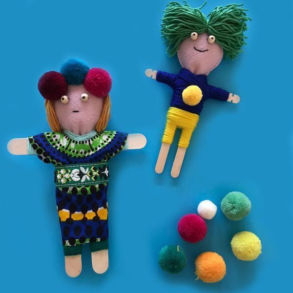 Куколки из палочек от мороженого