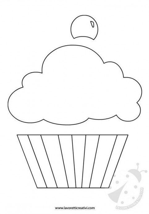 Пироженки-трафаретики для аппликаций