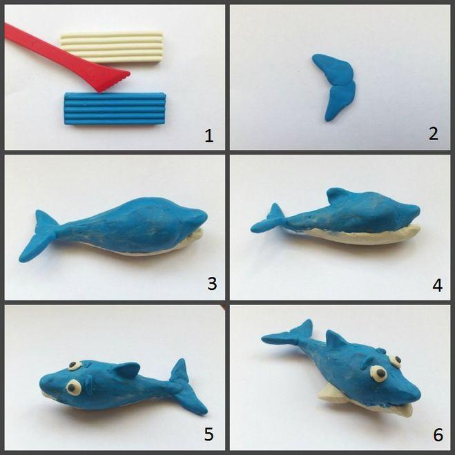 Веселая лепка из пластилина: обитатели вод