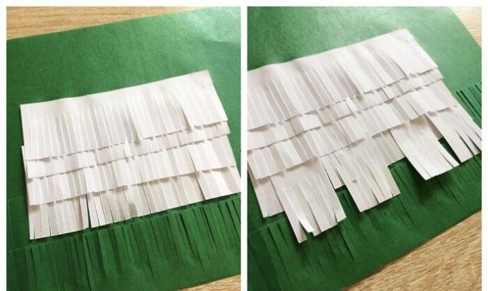 Болонка из надрезанной бумаги
