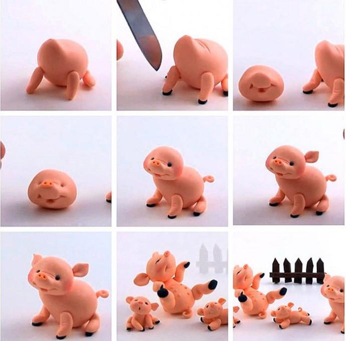 Пластилиновые игрушки 1