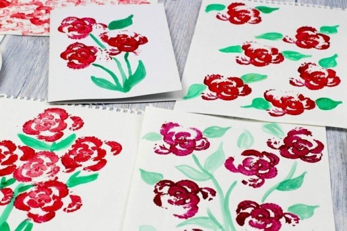 Рисуем розы сельдереем