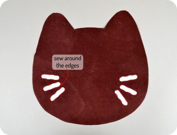Сумка-кошка детскими руками