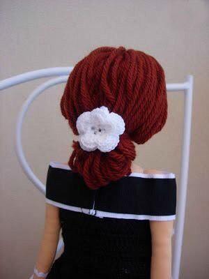 Волосы из пряжи для кукол 0
