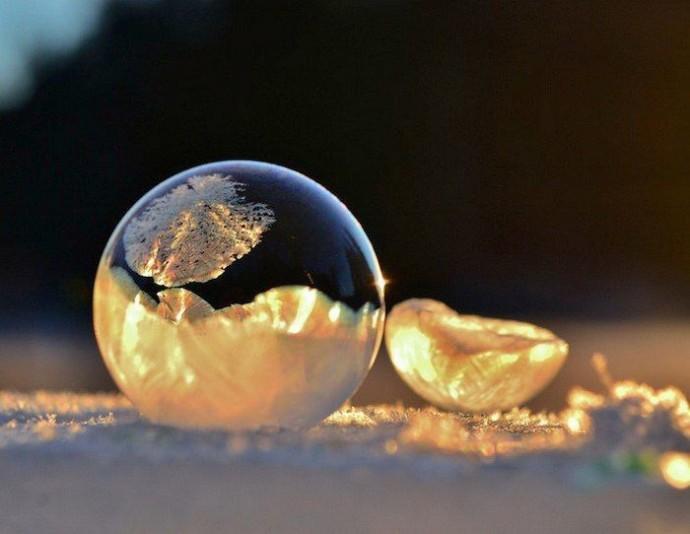 Замерзшие мыльные пузыри 1