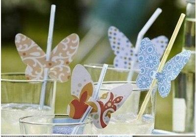 Бабочки на трубочках