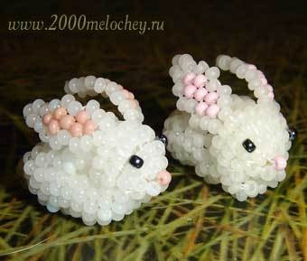 Кролик из бисера