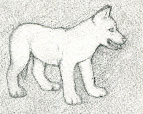 Рисуем с детьми щенка простым карандашом