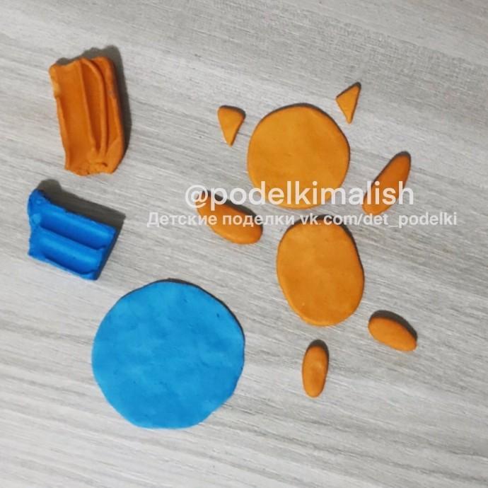 Аппликация из пластилина: кот-космонавт