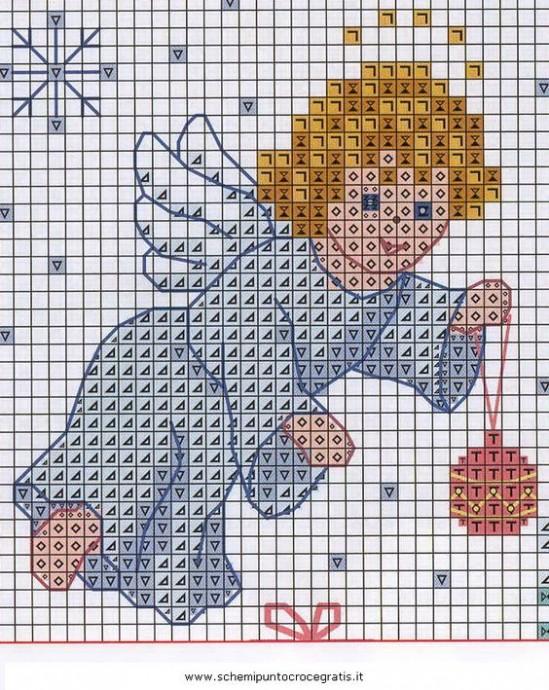 Милые схемы вышивки с ангелочками