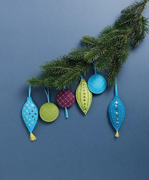 Яркие Рождественские игрушки своими руками 8