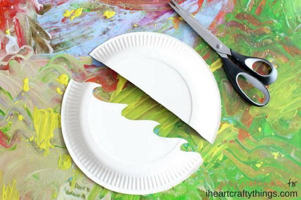 Лодочка из одноразовой тарелки