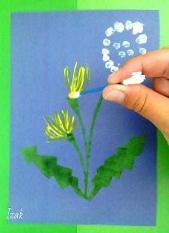 Нетрадиционные техники рисования: рисуем ватными палочками