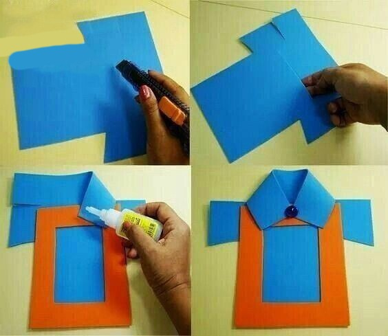 Рубашка из цветной бумаги