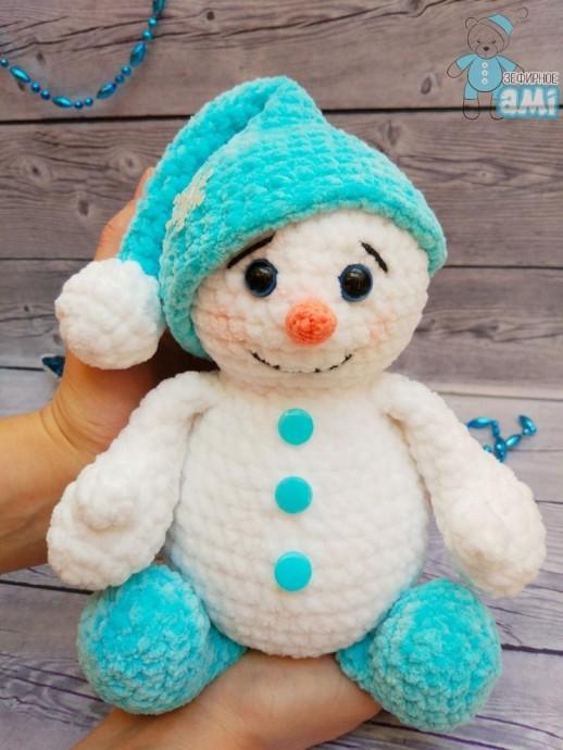 Зефирный снеговичок
