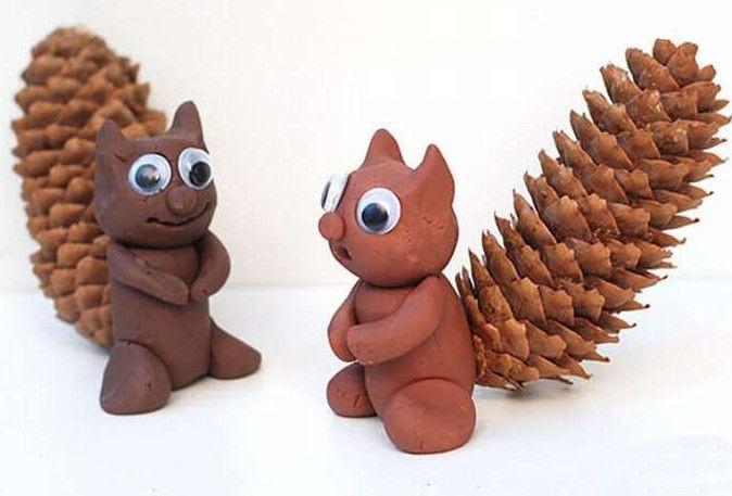 Идеи интересных детских поделок из шишек, каштанов и желудей